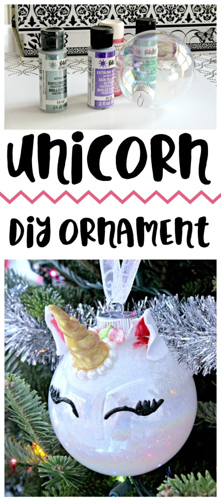 A little glitter and a little creativity creates a fab unicorn ornament!