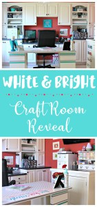 It is the final week of the #CraftRoomChallenge, and I'm so happy with my white, bright craft room reveal today! Talk about inspiration to get creative! #diy #organizing #craftroom