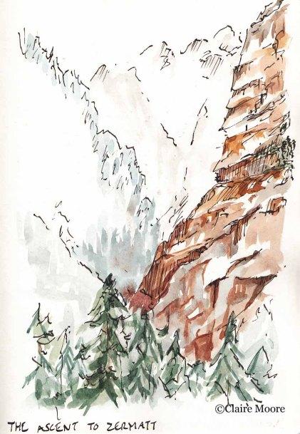 Ascent to Zermatt
