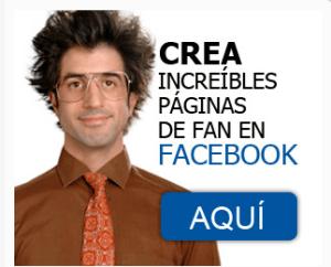 Anuncio sobre crear páginas de facebook