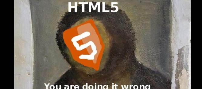 HTML5 fail