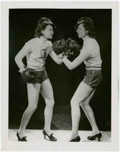 women boxing.nypl