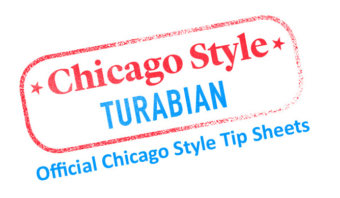 turabian style font