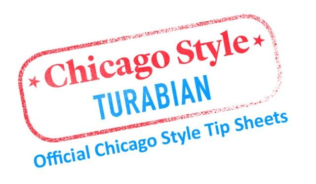 Turabian style information taken from turabian, kate l a manual.