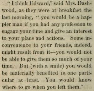 Sense and Sensibility, snippet from page 238 in the first edition