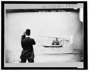 Wilbur Wright over New York Harbor, 1909