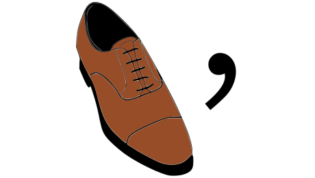 Oxford shoe and comma