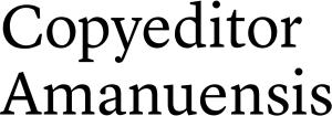 Copyeditor Amanuensis
