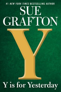 """Book cover for """"Y is for Yesterday,"""" by Sue Grafton"""