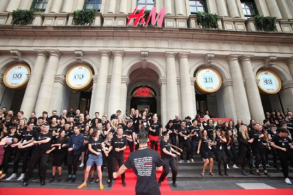 the official opening of H&M Melbourne on Saturday 5th April, 2014