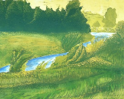 """""""Big Slough"""" - Reduction Relief Print - $75 ( 4 Available)"""