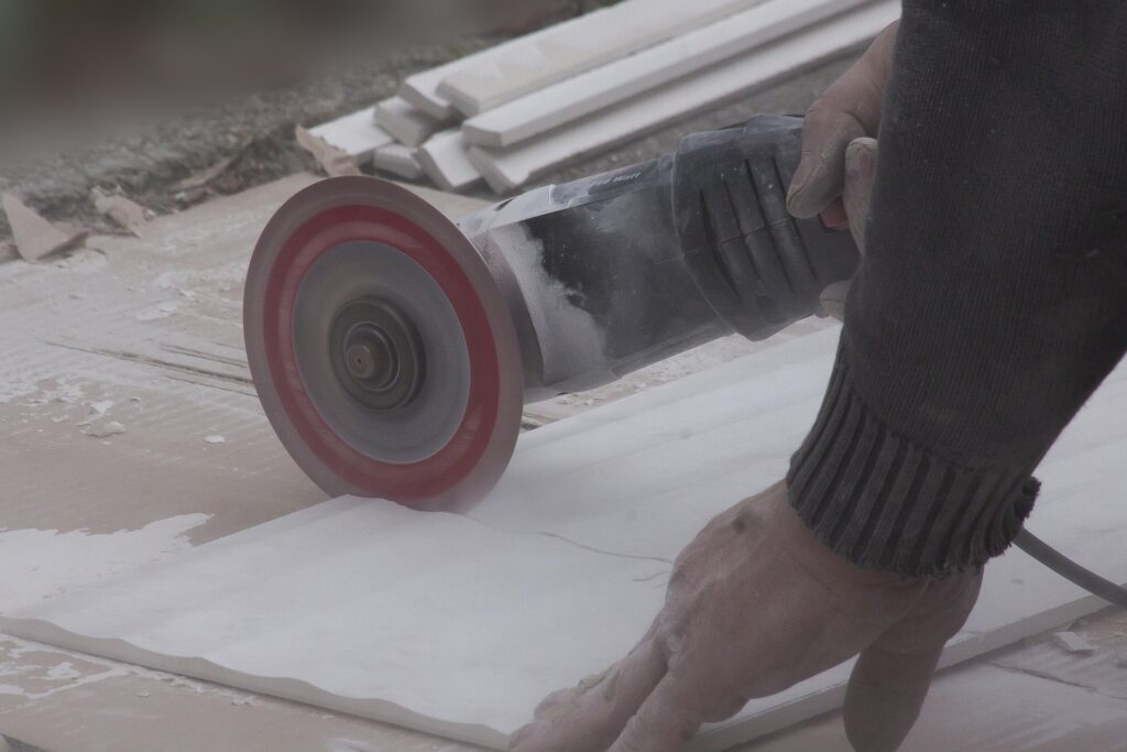can i use an angle grinder to cut tile