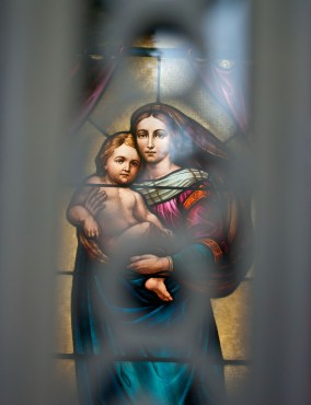 Stained Glass Madonna