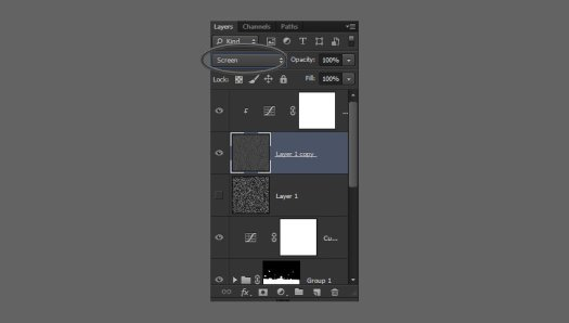 change blend mode to screen