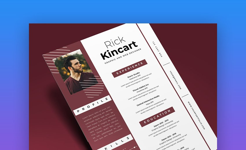 To give yourself the best possible chance of securing the job of your dreams, you need to. 25 Attractive Eye Catching Resume Cv Templates For 2021