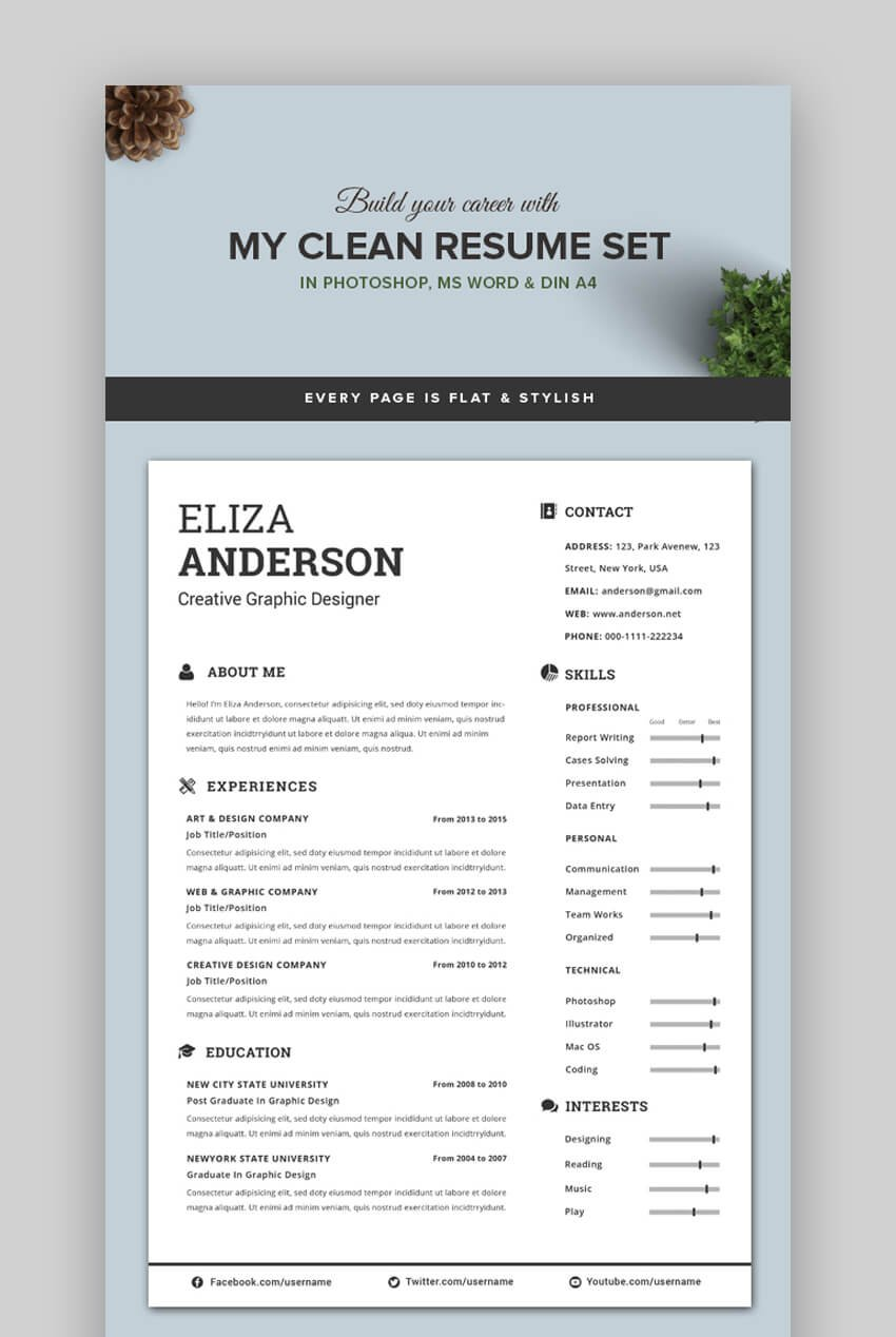 Free and premium plans sales crm software. 25 Attractive Eye Catching Resume Cv Templates For 2021
