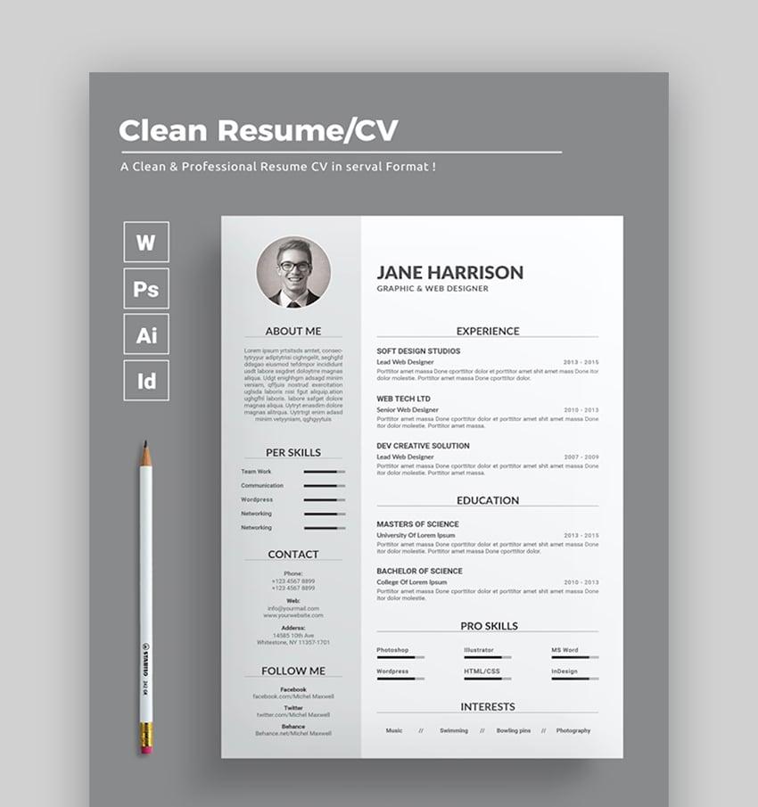 ➢ kostenlos ✓ einfach zu bearbeiten ♥ von recruitern empfohlen! Free Creative Resume Templates Word Psd Downloads 2021