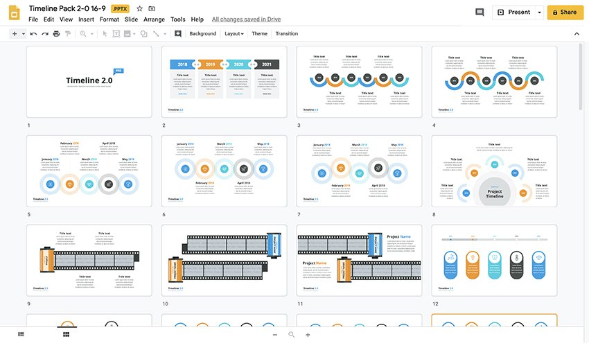 Then, use the tools provided to add lines, text, and color to create the timeline you envision. 25 Easy To Use Google Slides Timeline Templates For 2021