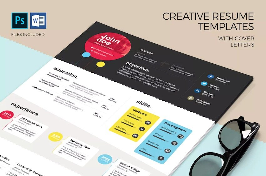 Our editorial collection of free modern resume templates for microsoft word features stylish, crisp and fresh resume designs that are meant to help you command more attention during the 'lavish' Free Creative Resume Templates Word Psd Downloads 2021