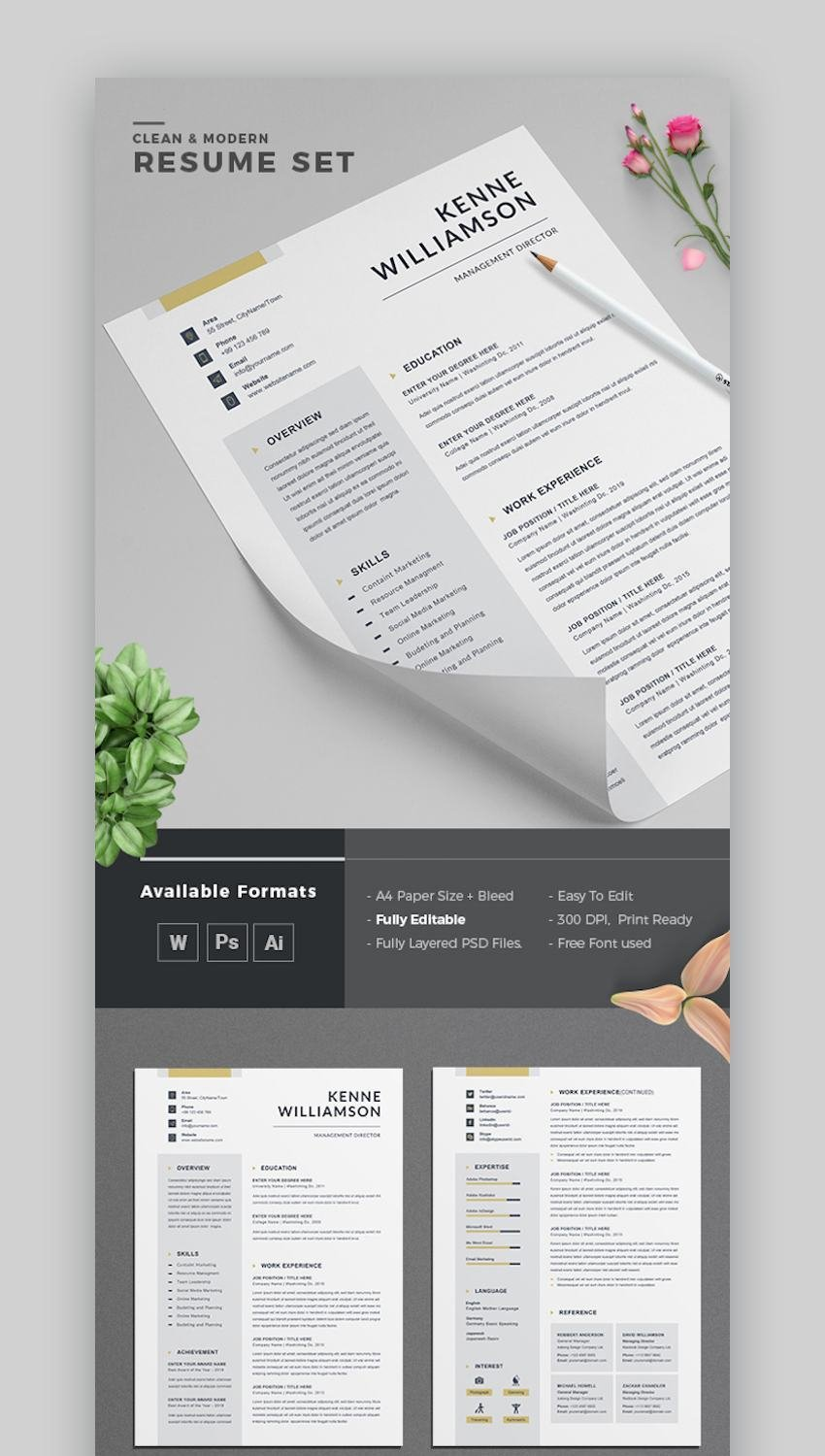 Lifehack contributor chris skyoles takes a look at 4 more ways you can create an online resume. Modern Resume Templates W Clean Elegant Cv Designs 2021
