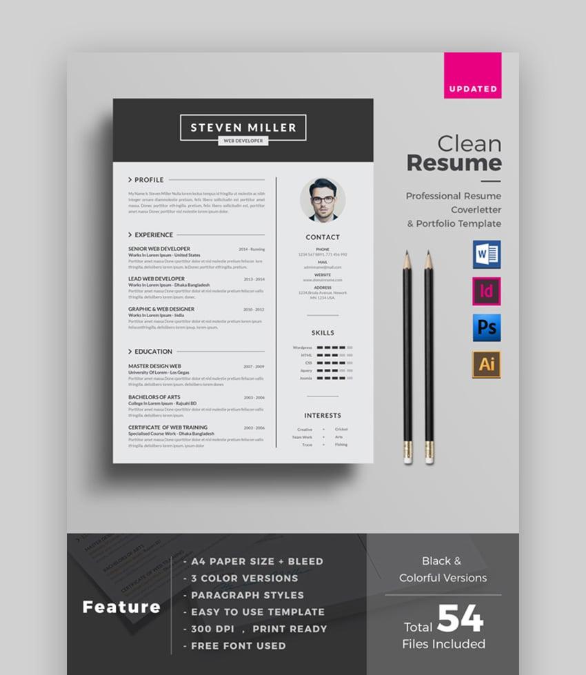 microsoft word resume template free : 39 Professional Ms Word Resume Templates Cv Design Formats