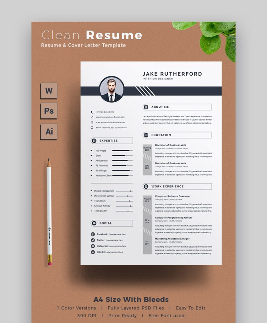 Using this resume template to create and optimize your student resume, internship resume, college graduate resume, mba resume, executive resume, stem resume, veteran resume or professionals resume. 39 Professional Ms Word Resume Templates Cv Design Formats