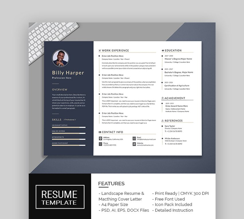 Looking at your previous work experience can help you decide which accomplishments are worth keeping on your resume. 39 Professional Ms Word Resume Templates Cv Design Formats