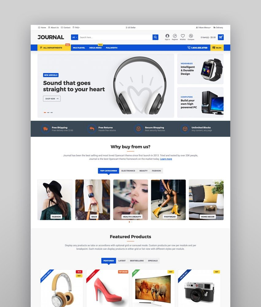 Blog page templates with different layouts; 24 Best Ecommerce Website Templates Updated For 2021