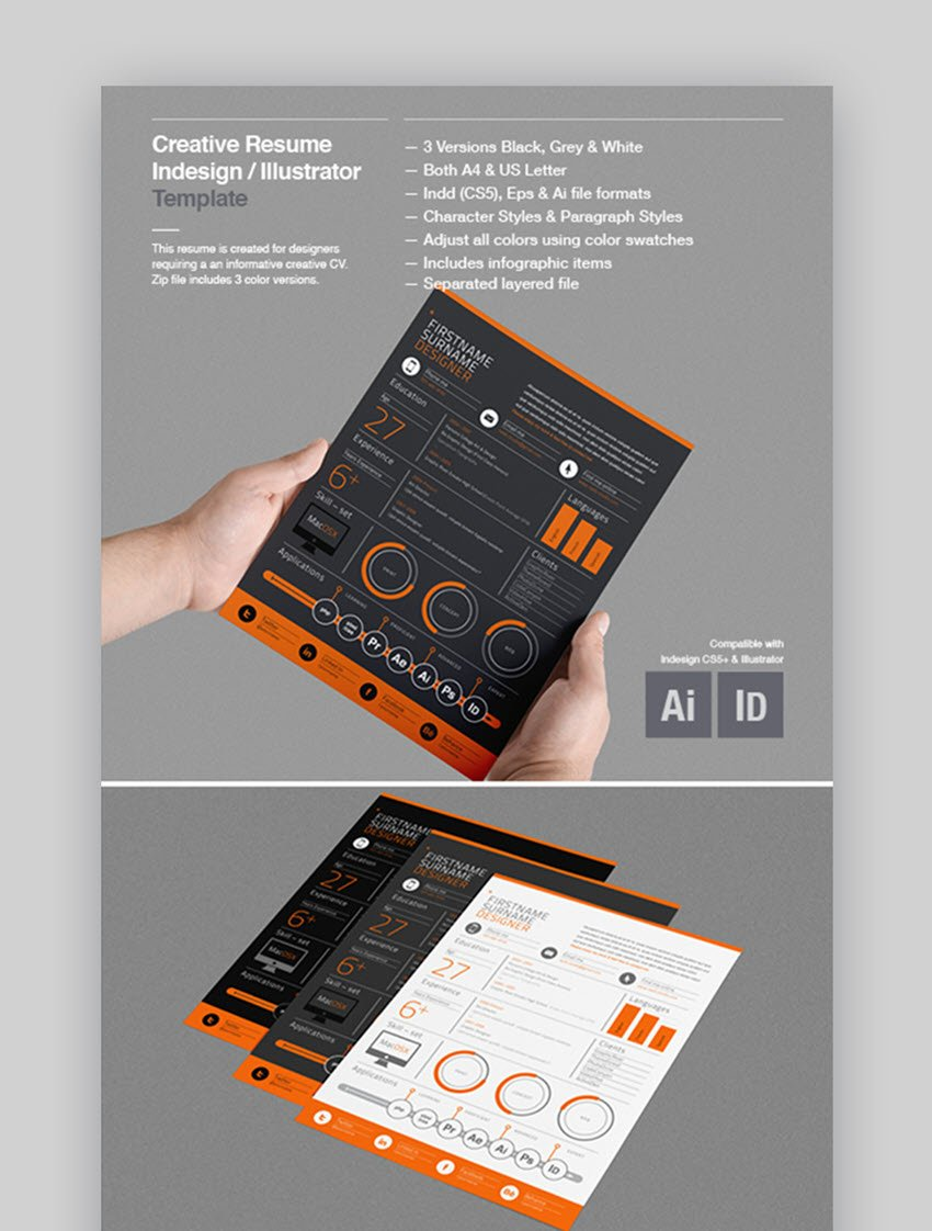 Use on of our unique timeline resume templates to show your creative job experience or a template with some clever icons to highlight your best skills. 30 Best Visual Cv Resume Templates For Artists Creatives In 2020