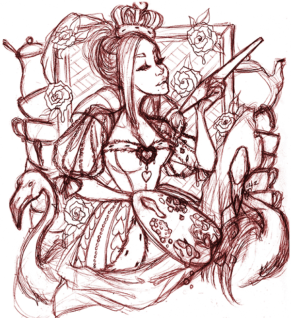 Creating A Queen Of Hearts Playing Card Through Collaboration