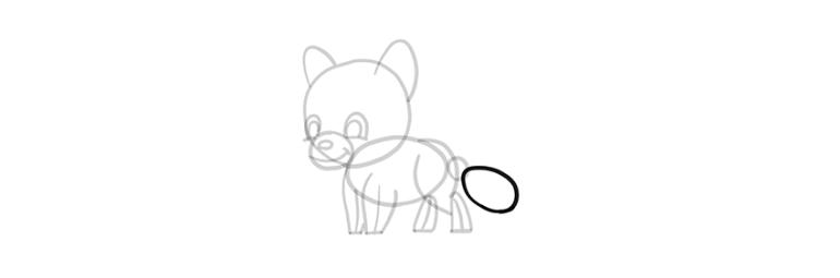 chibi wolf tail fluffy