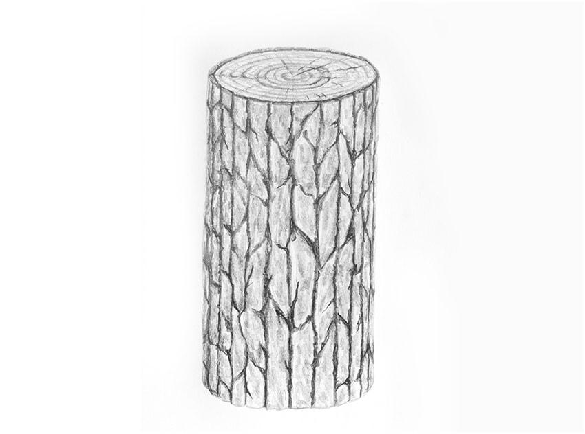 como desenhar um tronco de árvore