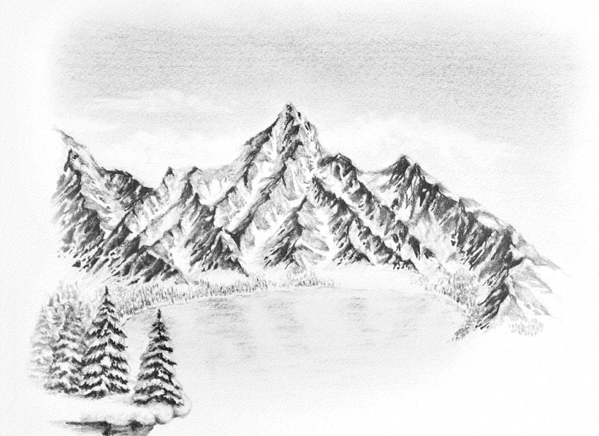 Drawings Pencil Mountain Man