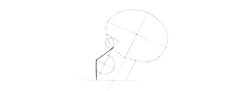 desenho da frente dos maxilares