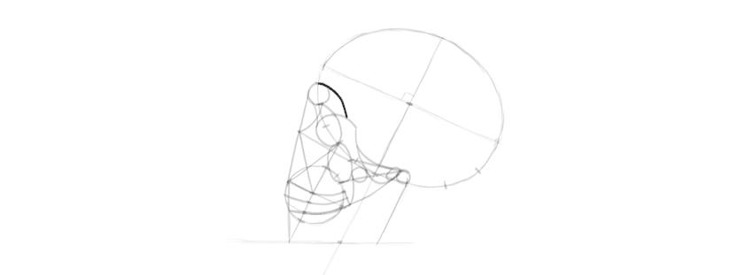 desenho caveira olho soquete