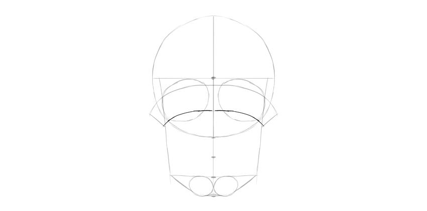 cristas de olho de crânio humano
