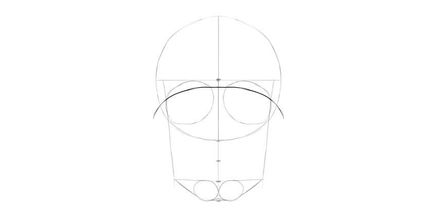 sobrancelha de crânio humano