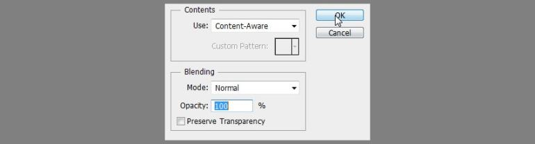 photoshop content aware fill