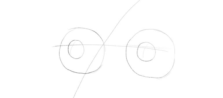 lion iris drawing