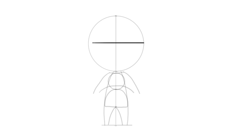 drawing chibi head proportions