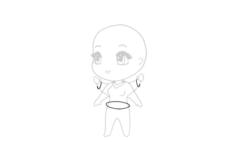 drawing chibi jacket sleeves