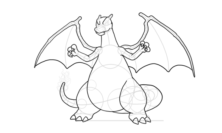charizard body outline