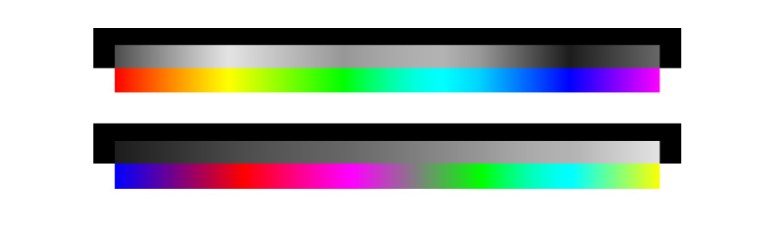 color organized in values