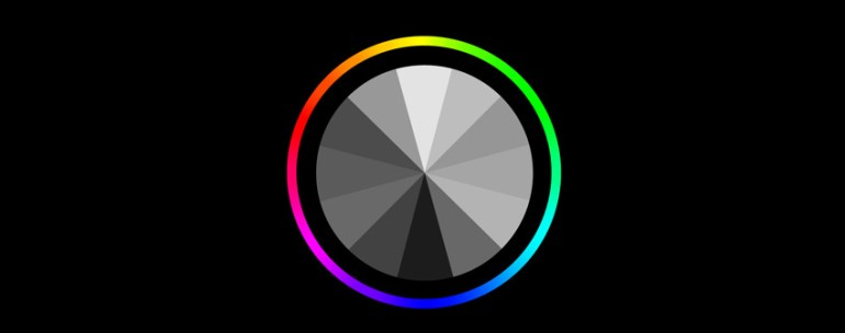 color wheel values grayscale