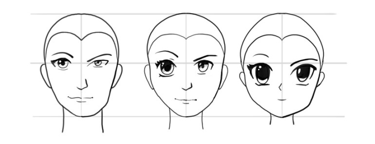 manga face sex male female difference