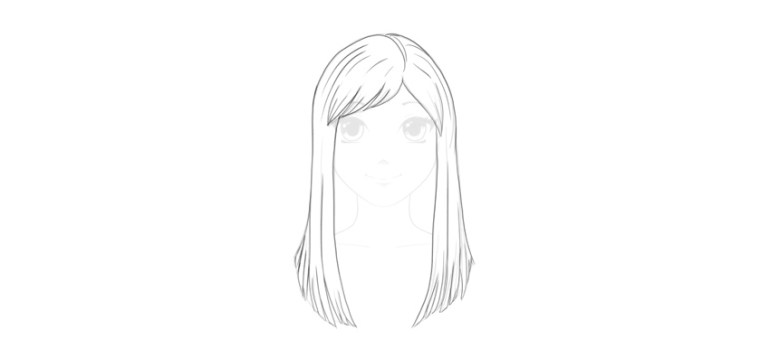add detail to straight hair