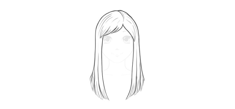 draw ling straight hair