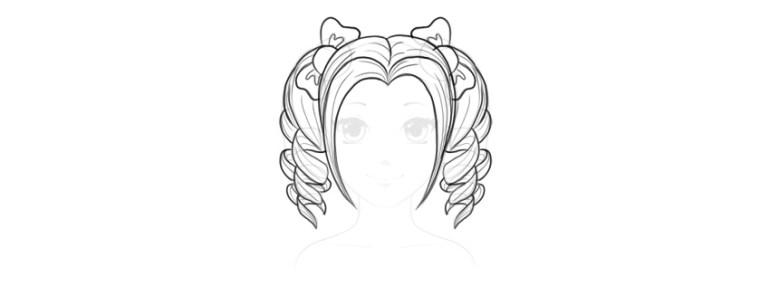 cute manga pigtails
