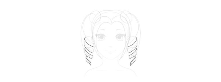 draw 3d curls