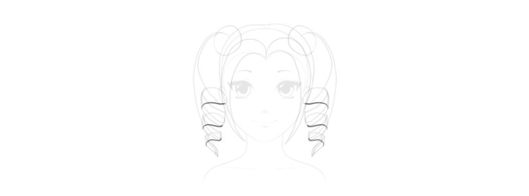 draw cute hairstyle anime